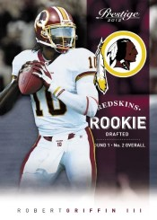2012 Panini Prestige Robert Griffin III Rookie Card