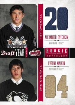 2011/12 Panini Rookie Anthology Draft Year Combos Alexander Ovechkin & Evgeni Malkin