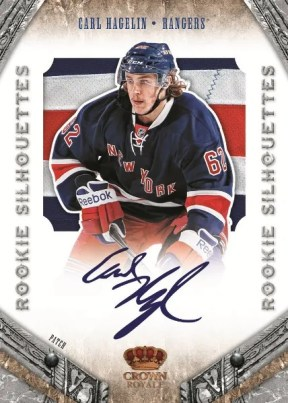 2011/12 Panini Rookie Anthology Crown Royale Silhouettes Carl Hagelin Card