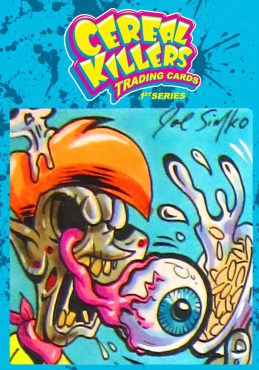 Cereal Killers Series 1 Joe Simko Original Color Sketch Art Card