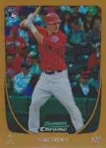 2011 Bowman Chrome Mike Trout Canary Diamond