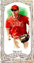 2012 Allen Ginter Mike Trout Mini Card