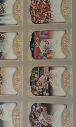 2012 Topps Gypsy Queen Un-Cut Autograph Sheet