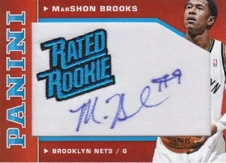 12/13 Panini Rated Rookie MarShon Brooks Autograph