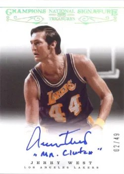12/13 Panini National Treasures Jerry West Champions Signatures