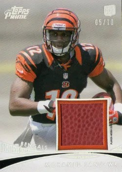 2012 Topps Prime Mohamed Sanu Prime Relic Silver Rainbow #/10