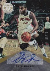 2012-13 Panini Totally Certified Greg Monroe Gold Signatures #/10