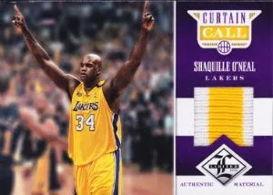 12/13 Panini Limited Curtain Call Shaquille O'Neal Prime Jersey #/10