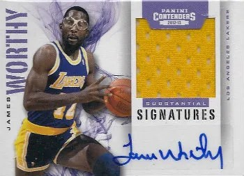 12/13 Panini Contenders Substantial Signatures James Worthy Jersey Auto