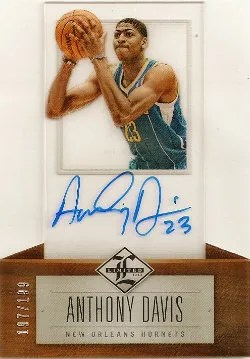 12/13 Panini Limited Anthony Davis Autograph RC Card