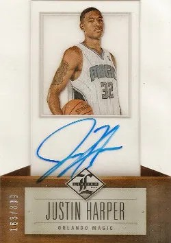 12/13 Panini Limited Justin Harper Autograph RC Card