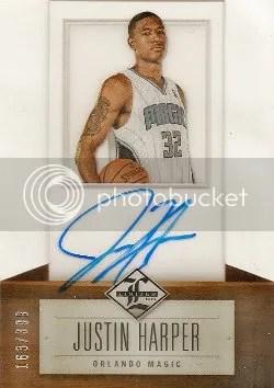 12/13 Panini Limited Justin Harper Autograph RC Card