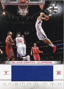 12/13 Panini Limited Lights Out Blake Griffin Jersey Card