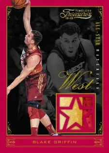 2012/13 Panini Timeless Treasures Blake Griffin All-Star Jersey Card