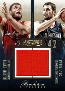 2012/13 Panini Timeless Treasures Revolution Memorabilia Kevion Love - Blake Griffin Jersey Card