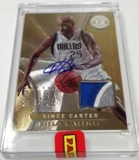 2013 Panini Black Box Vince Carter Auto Patch