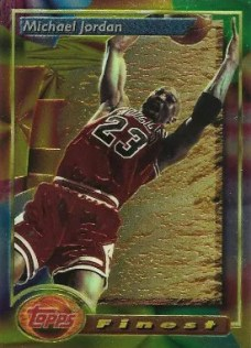 1993-94 Topps Finest Michael Jordan Base Card #1