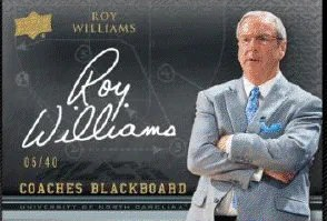 2011-12 Upper Deck Exquisite Coaches Blackboard Roy Williams Autograph Card