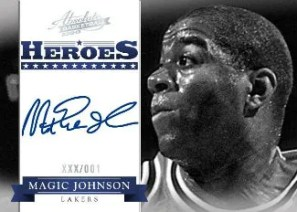 2012-13 Panini Absolute Magic Johnson Heroes Autograph Card