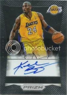 2012-13 Panini Prizm Kobe Bryant Autograph Card