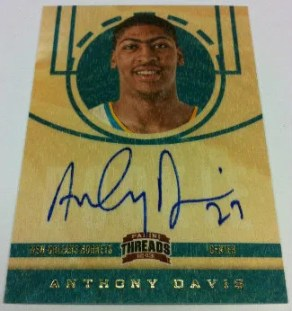 2012-13 Panini Threads Basketball Anthony Davis RC Autograph Card