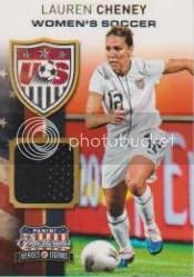 2012 Panini Americana USA Soccer Jersey Lauren Cheney