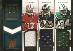 2012 Panini Momentum Head of the Class Triple Material #6 A.J. Jenkins - Brian Quick - Stephen Hill