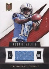 2012 Panini Momentum Rookie Salute Kendall Wright Material Card