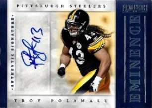 2012 Panini Prominence Troy Polamalu Autograph Card