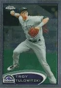 2012 Topps Chrome Baseball Troy Tulowitzki SP Photo Variation