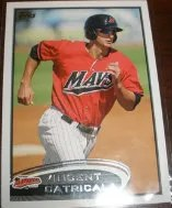 2012 Topps Pro Debut SP Photo Variation #219 Vincent Catricala