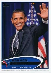 2012 Topps Update Series Barack Obama Code Card