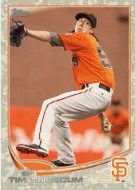 2013 Topps Series 1 Tim Lincecum Desert Camo Parallel Card #/99