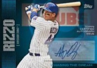 2013 Topps Series 1 Anthony Rizzo Chasing The Dream Autograph Card
