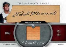 2013 Topps Series 1 Roberto Clemente Cut Autograph Relic Card #1/1