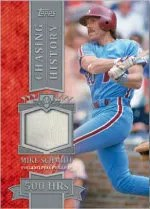 2013 Topps Series 1 Chasing History Mike Schmidt Bat Relic Card