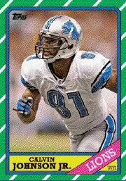 2013 Topps Archives Calvin Johnson Base Card