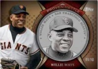 2013 Topps Series 1 Willie Mays Proven Mettle Steel Coin Card
