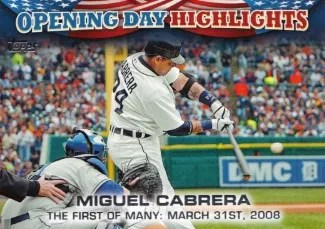 2013 Topps Opening Day Miguel Cabrera Insert