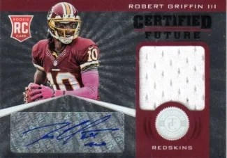 2012 Panini Totally Certified Future Robert Griffin III Jersey Card