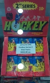 1971-72 OPC Series 2 Hockey Box