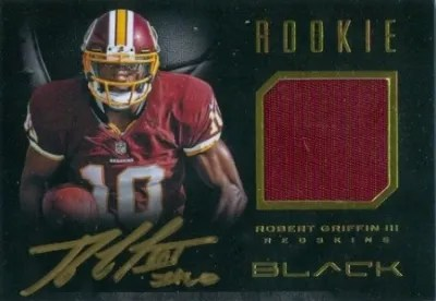 2012 Panini Black Robert Griffin III Rookie Auto