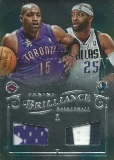 12/13 Panini Brilliance City to City Prime Vince Carter #/15