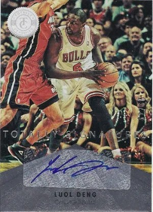 2012-13 Panini Certified Totally Silver Signatures #39 Luol Deng #/49