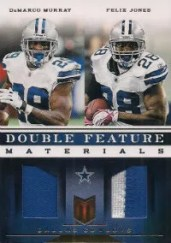2012 Panini Momentum Double Feature Prime Jersey Card #4 DeMarco Murray - Felix Jones #/49