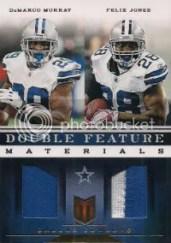 2012 Panini Momentum Double Feature Prime Jersey Card #4 DeMarco Murray - Felix Jones #/49