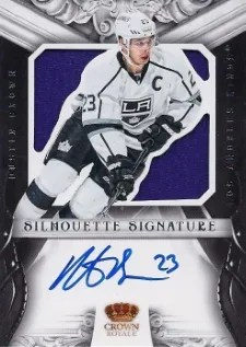 12/13 Panini Rookie Anthology Silhouettes #29 Dustin Brown Auto