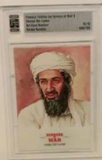 Osama Bin Laden Card From Famous Fabrics