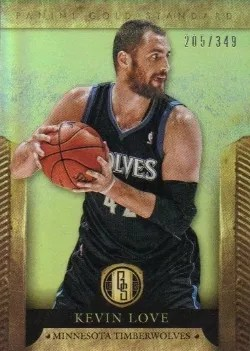 12/13 Panini Gold Standard Kevin Love Base Card