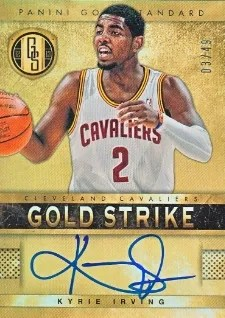 12/13 Panini Gold Standard Kyrie Irving Auto